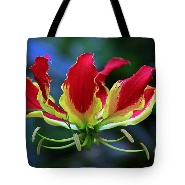 Flame Lily II Tote Bag by Larry Nieland