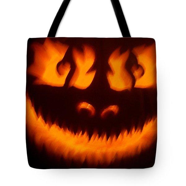 Flame Pumpkin Tote Bag