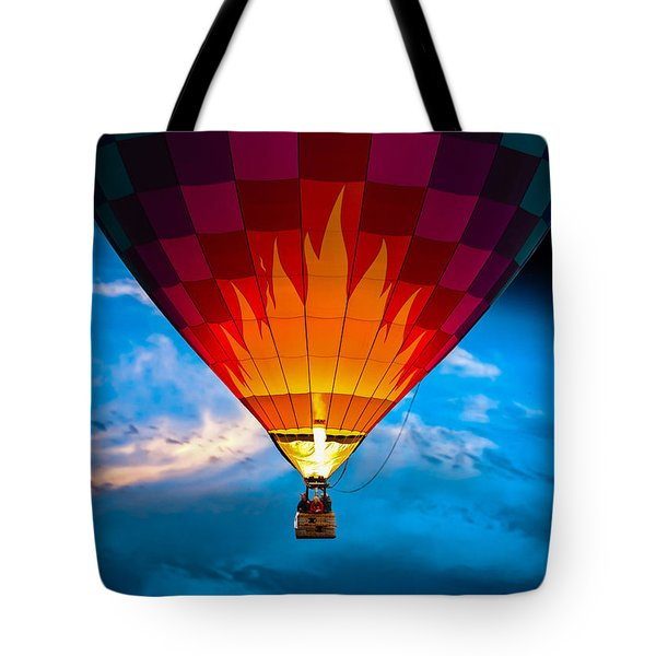 Flame With Flame Tote Bag by Bob Orsillo
