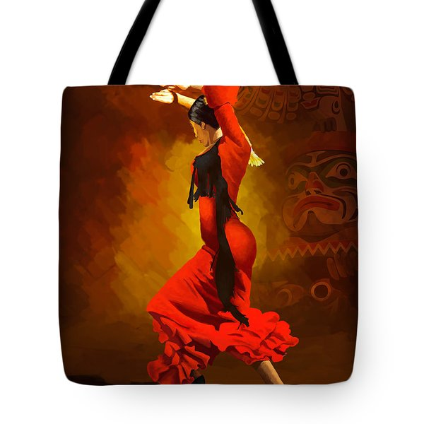 Flamenco Dancer 0013 Tote Bag by Catf