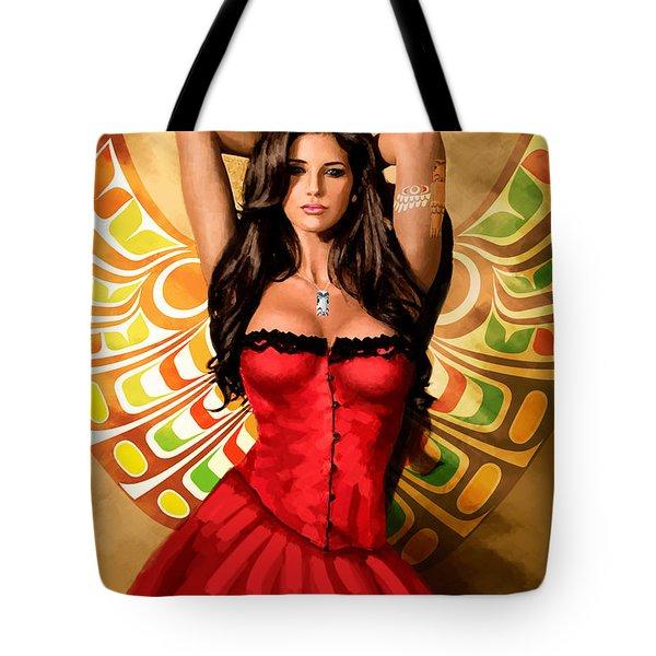 Flamenco Dancer 011 Tote Bag by Catf