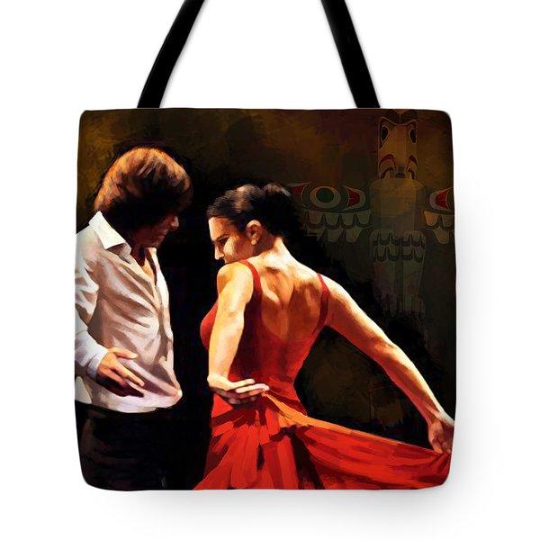 Flamenco Dancer 012 Tote Bag by Catf