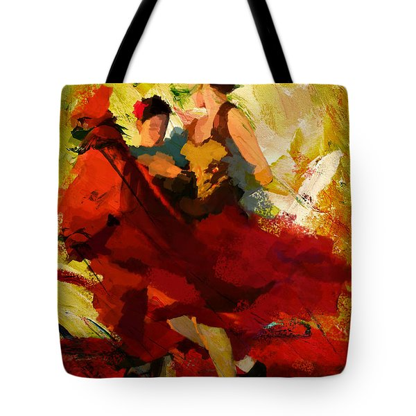 Flamenco Dancer 019 Tote Bag