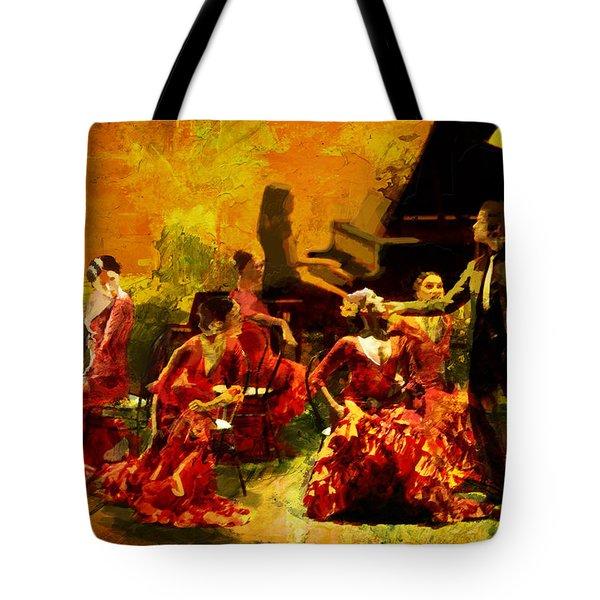 Flamenco Dancer 020 Tote Bag by Catf