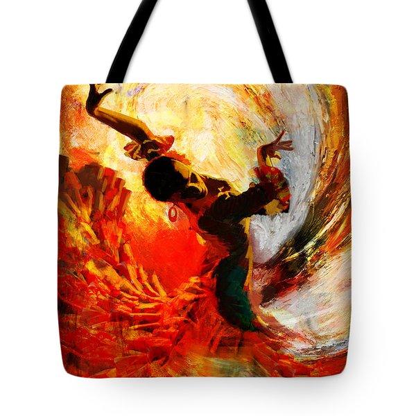 Flamenco Dancer 021 Tote Bag by Mahnoor Shah