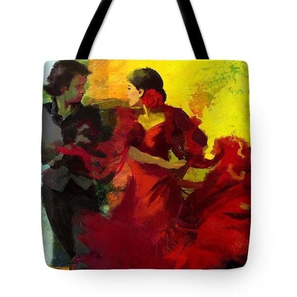 Flamenco Dancer 025 Tote Bag by Catf