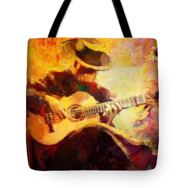 Flamenco Dancer 028 Tote Bag by Catf