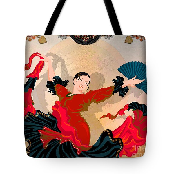Flamenco Dancer Tote Bag by Bedros Awak