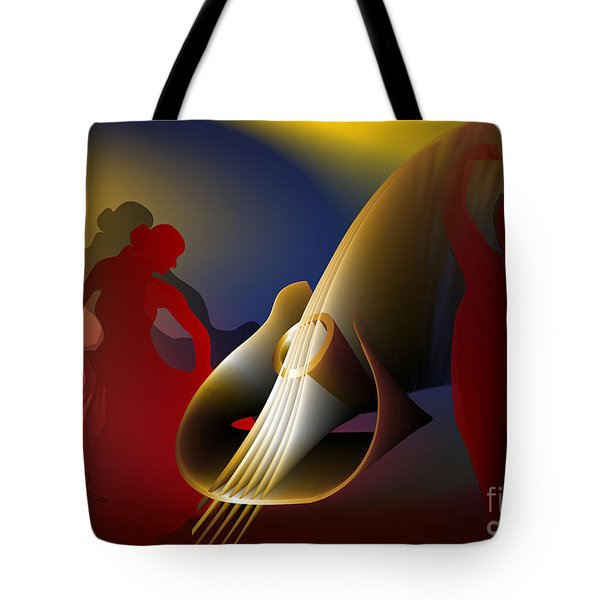 Tote Bag featuring the digital art Flamenco by Leo Symon