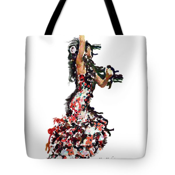 Flamenco Series #12 Tote Bag by Mary Machare