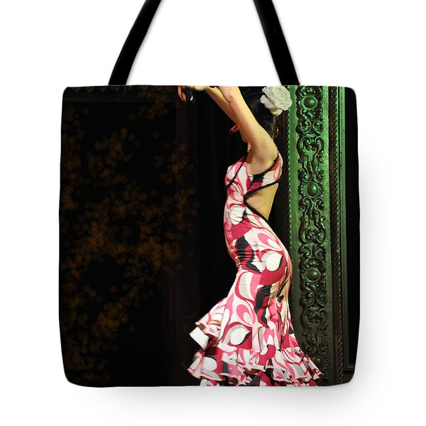 Flamenco Series #8 Tote Bag by Mary Machare