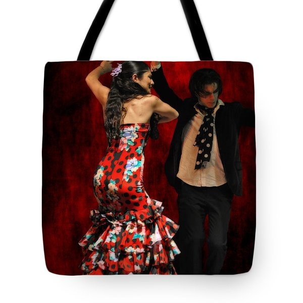 Flamenco Series #9 Tote Bag by Mary Machare