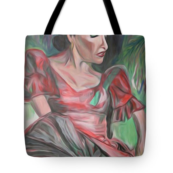 Tote Bag featuring the painting Flamenco Solo by Ecinja Art Works