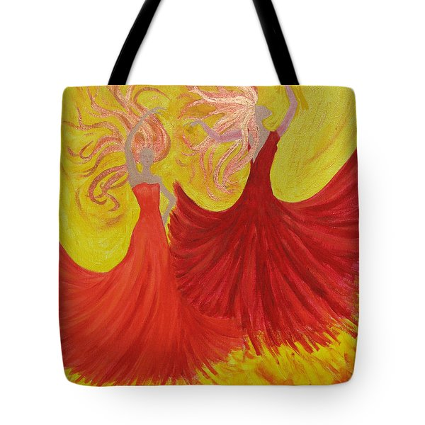 Tote Bag featuring the painting Flamenco by Stephanie Grant