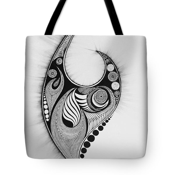 Flames And Orbs Tote Bag by Kelly Hazel