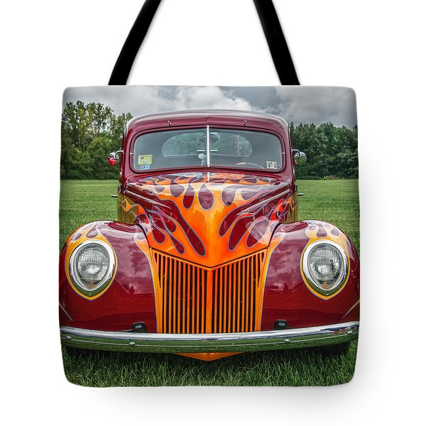 Flames Tote Bag by Guy Whiteley