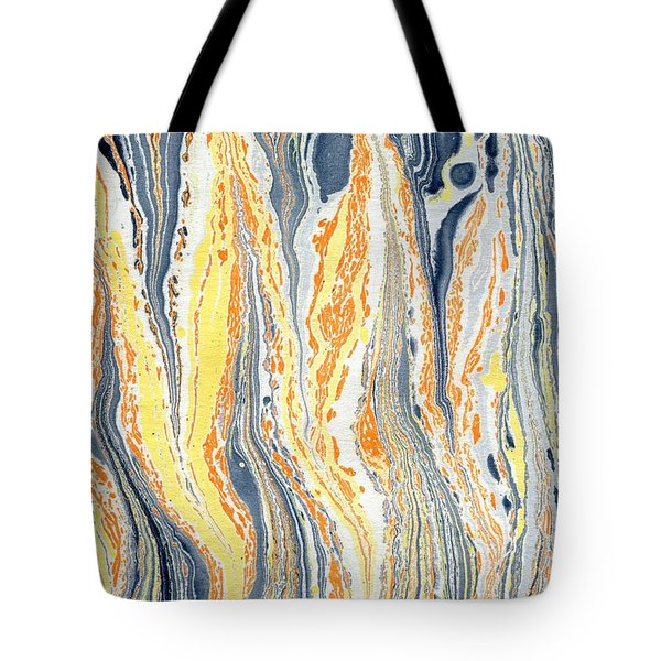 Tote Bag featuring the painting Flames by Menega Sabidussi