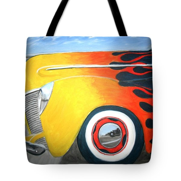 Tote Bag featuring the painting Flames by Stacy C Bottoms