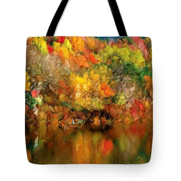 Flaming Autumn Abstract Tote Bag