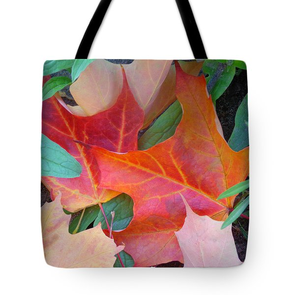 Flaming Autumn Tote Bag