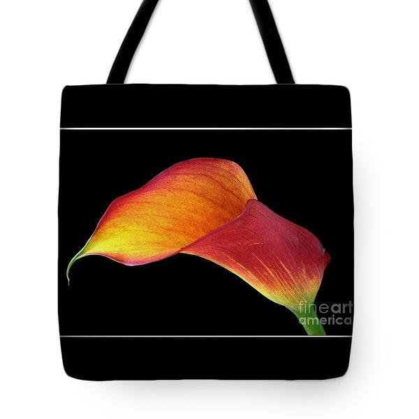 Flaming Calla Tote Bag