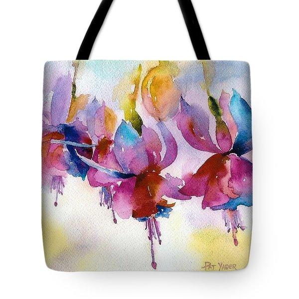 Flaming Fuchsias Tote Bag by Pat Yager