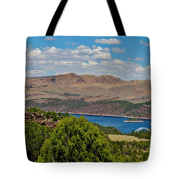 Tote Bag featuring the photograph Flaming Gorge by Janice Rae Pariza