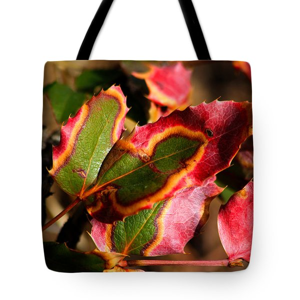 Flaming Leaves Tote Bag