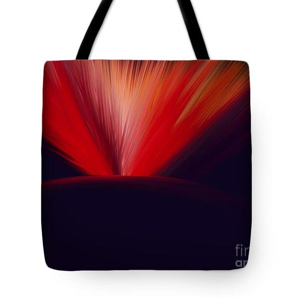 Flaming Planet Tote Bag