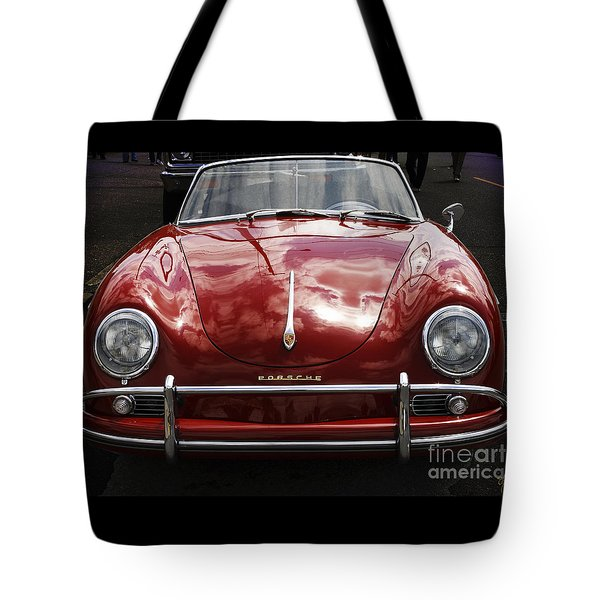 Tote Bag featuring the photograph Flaming Red Porsche by Victoria Harrington