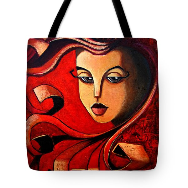 Flaming Serenity Tote Bag