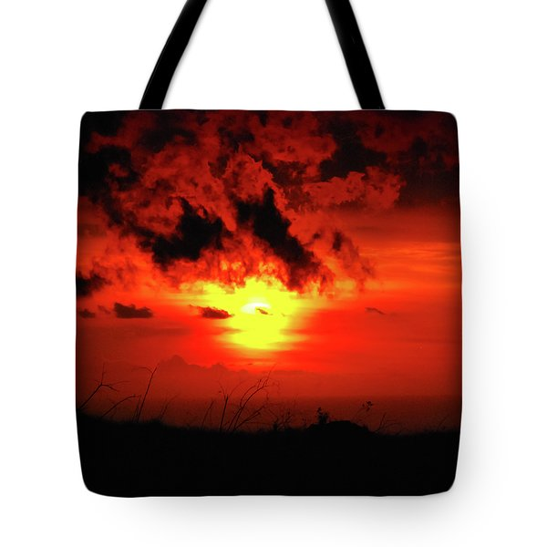 Flaming Sunset Tote Bag