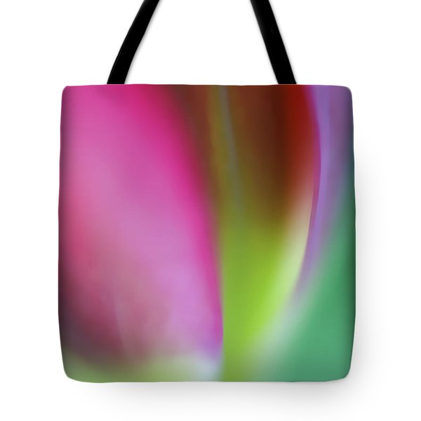 Tote Bag featuring the photograph Flaming Tulip by Annie Snel