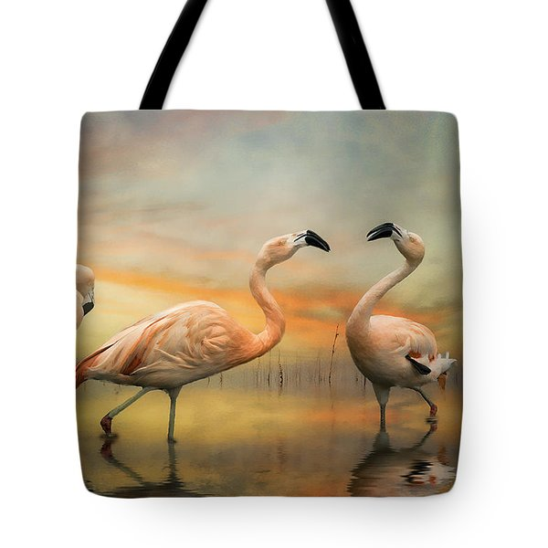 Flamingo Dusk Tote Bag