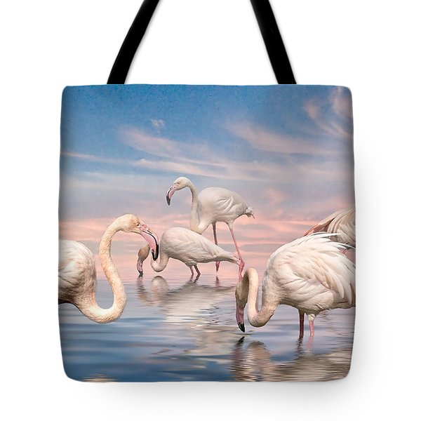 Flamingo Lagoon Tote Bag