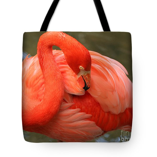 Flamingo Tote Bag by Larry Nieland