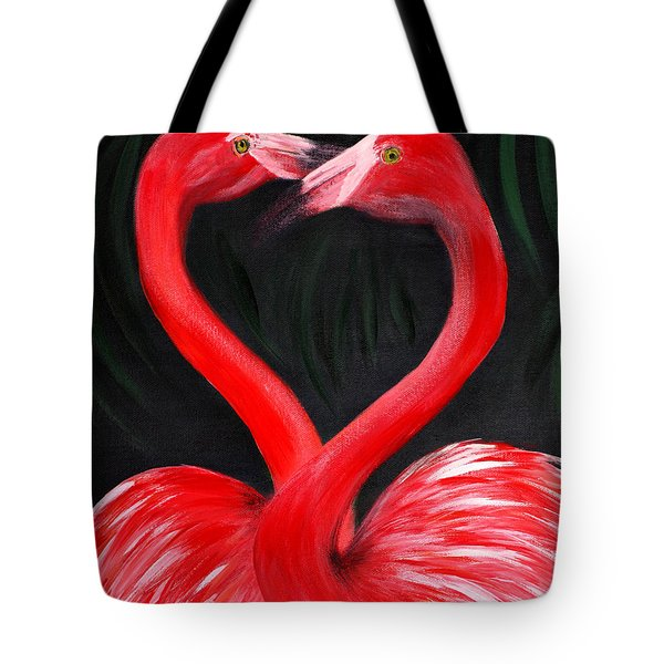Love  Is... Flamingo Love. Inspirations Collection Tote Bag