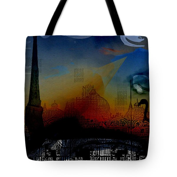 Tote Bag featuring the digital art Flamingo Pink Gone by Cathy Anderson