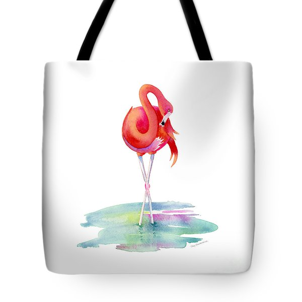 Flamingo Primp Tote Bag