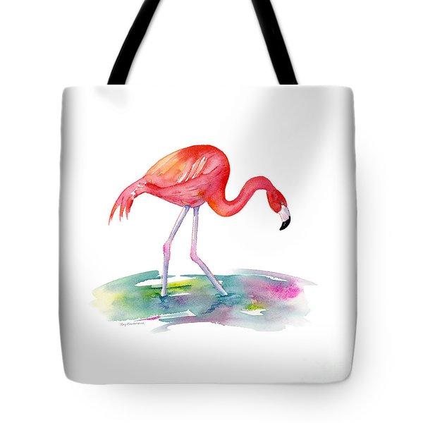 Flamingo Step Tote Bag