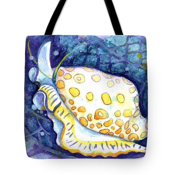 Tote Bag featuring the painting Flamingo Tongue by Ashley Kujan