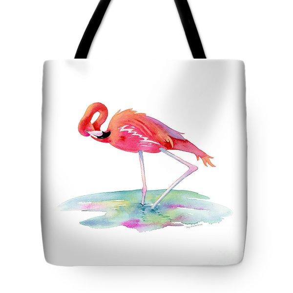 Flamingo View Tote Bag