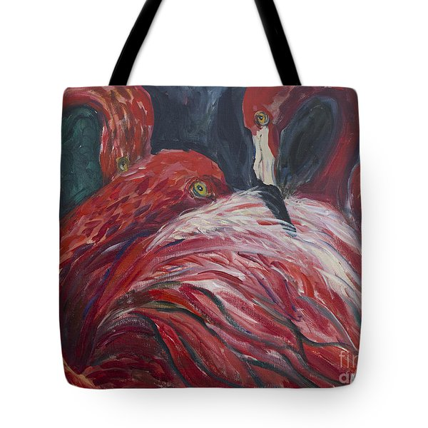 Flamingos Tote Bag by Avonelle Kelsey