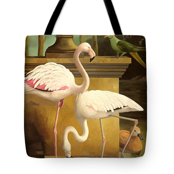 Flamingos Tote Bag by Lizzie Riches