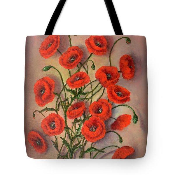 Flander's Poppies Tote Bag