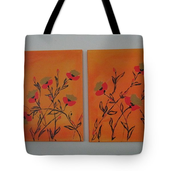 Tote Bag featuring the painting Flanders Poppies by Sharyn Winters