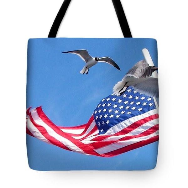Flapping And Flack Tote Bag