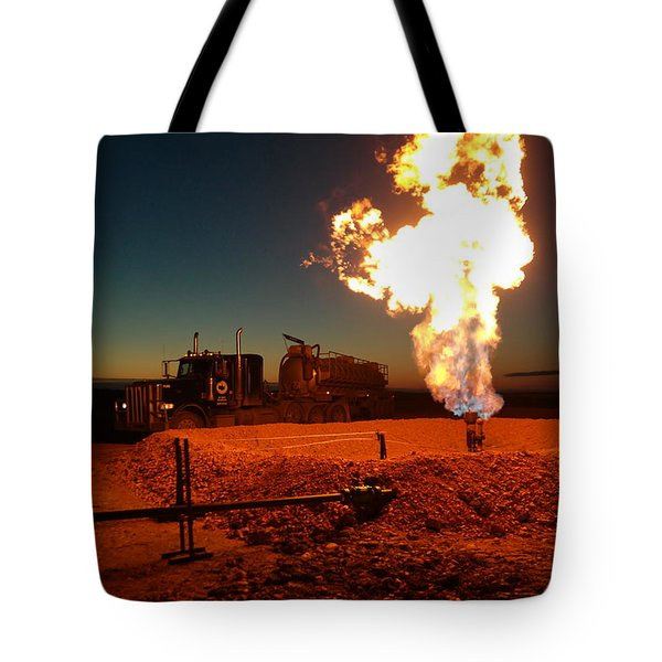Flare And A Vacuum Truck Tote Bag