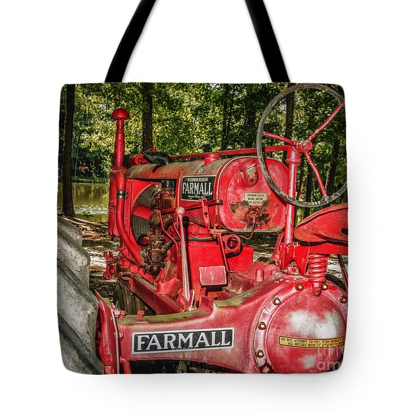 Flash On Farmall Tote Bag by Robert Frederick