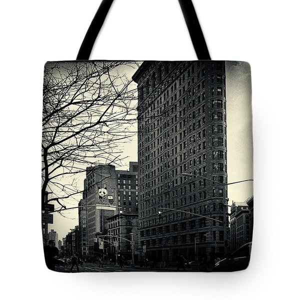 Flat Iron Building Fifth Avenue And Broadway Tote Bag by Sabine Jacobs
